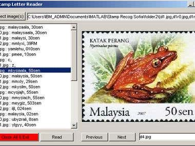 Matlab: Stamp Price Reader