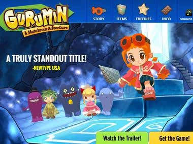 Gurumin Website - Mobile / Desktop