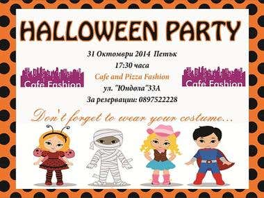 Haloween invitation poster for children party
