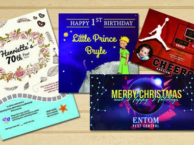 Invitations, Banners