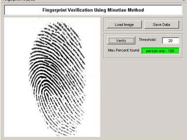 Matlab: Fingerprint Recognition