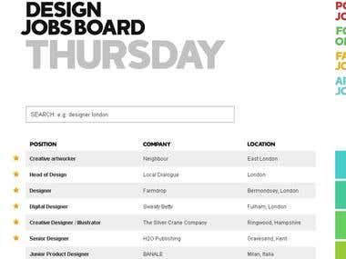 Design Jobs Board
