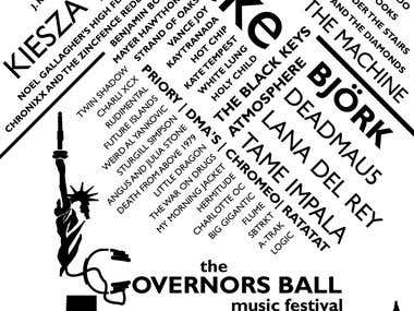 Governors Ball Retro Poster