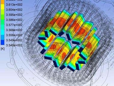 Thermal FEA inside the motor