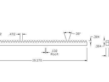 Gear Rack drawing