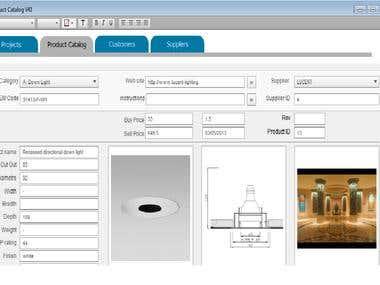 FileMaker solution for Light design Company