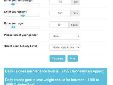 Basal Metabolic Rate Calculator  Calorie Requirement Counter
