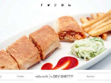 Restaurants by Dev Shetty website