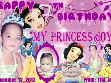 Princess Joy 7th Birthday