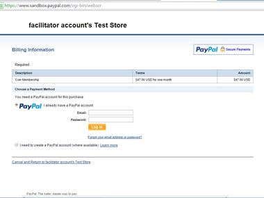 Paypal API Recurring Payment