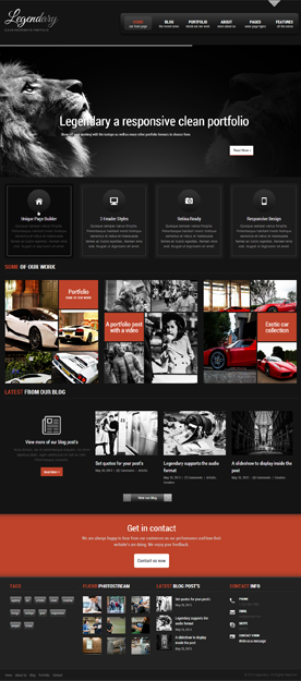 Legendary – Responsive Creative WordPress Theme