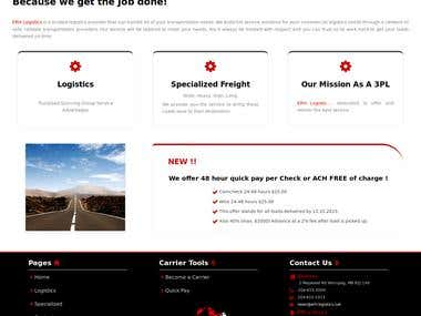 Remake of an existing Website for ERH Logistics