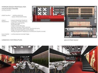 INTERIOR DESIGN PROPOSAL FOR A BLACK BOX THEATRE