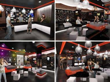 INTERIOR DESIGN PROPOSAL FOR A COCKTAIL LOUNGE