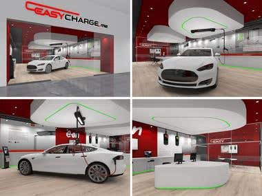 SHOWROOM PROPOSAL FOR EASY CHARGE .ME (ELECTRIC CAR CHARGING