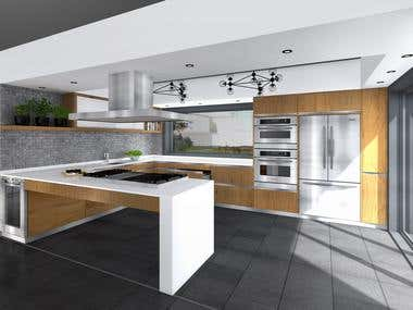 INTERIOR DESIGN PROPOSAL FOR AN MODERN KITCHEN