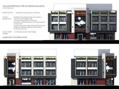 FACADE PROPOSAL FOR AN EXISTING BUILDING