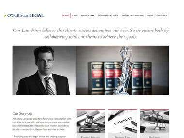 Website for lawyer