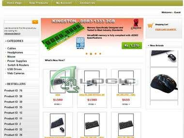 Computer online shopping store