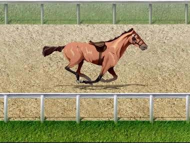 Horse Animation on a Race Track