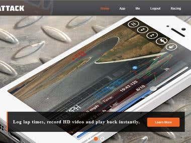 Track Attack App Website