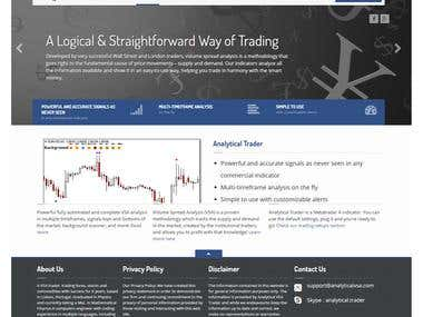 Analyticaltrader.com - Software selling E-commerce website