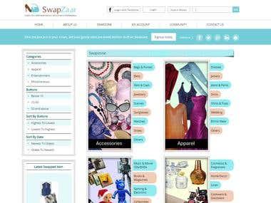 Swapzaar - eCommerce Platform -PHP/YII/MySQL/Payment Gateway