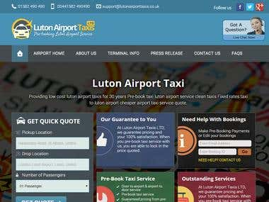 Website Design for Luton Taxi Company