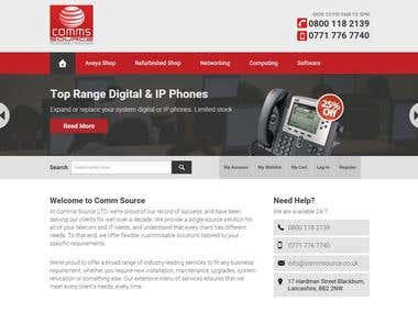 Website Design for UK Telecom Company