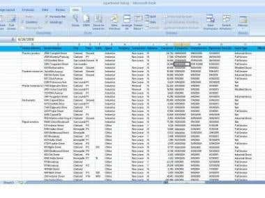 Manual Entry of File from PDF to Excel