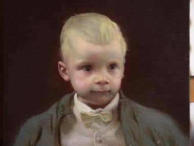 Portrait Oil Painting Child