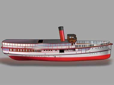 Model boat package design