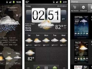 Weather android apps