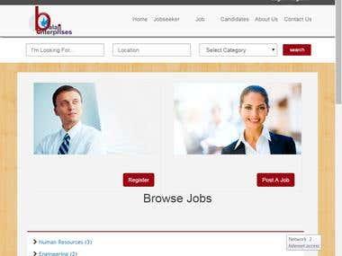 Jobportal development & design
