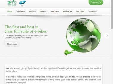 Redesign the wesite on Wordpress