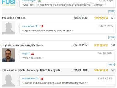 Translation: English French German Russian Polish + more