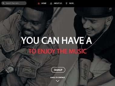 Music Website - WordPress