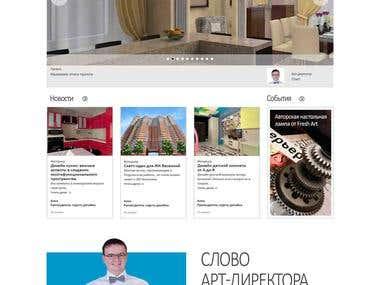 Design-architectural studio web-site