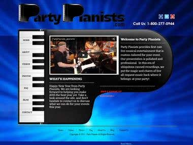 Party Piano Website