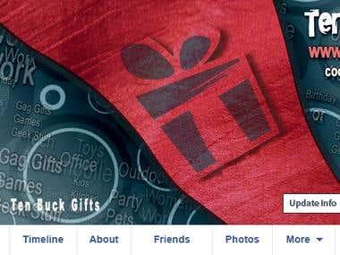 Ten Buck Gift Facebook Cover & Logo Design