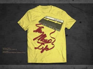 The Music Life Apparel Shirt Design