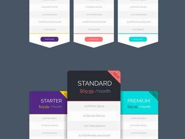 Web Elements - Pricing Table Design