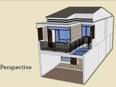 Residential design using SketchUp