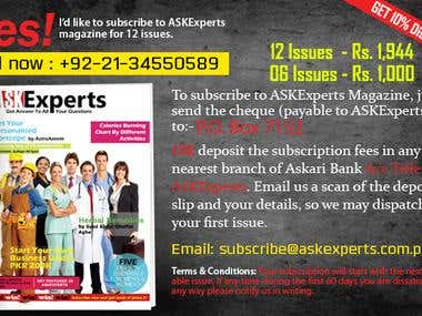 Banners, coupon design and web layout for ASKExperts