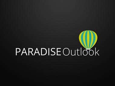 Paradise Outlook logo design proposal
