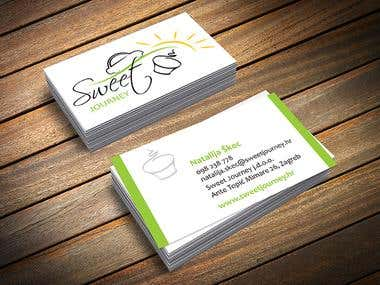 Sweet Journey business card design