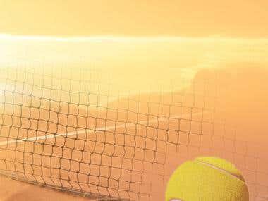 Splash screen design for tennisTOUCH Live Tracker app