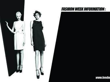 London Fashion Week. Banner design.