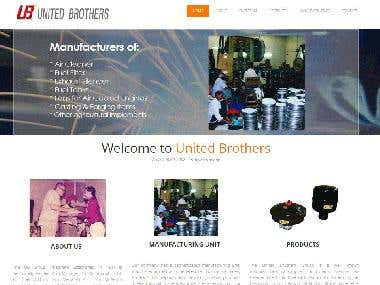 United Brothers Pahgwara HTML website Project