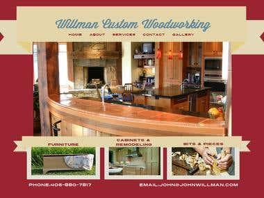 Willman Custom Woodworking WORDPRESS SITE DEVELOPMET